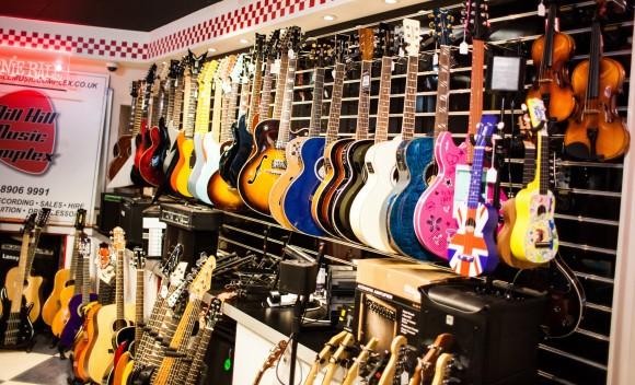 Guitars in Mill Hill Music