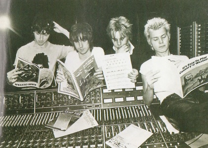 Generation X taking time off from a hard days recording
