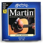 Pack of three Martin  80/20 Medium Bronze Strings